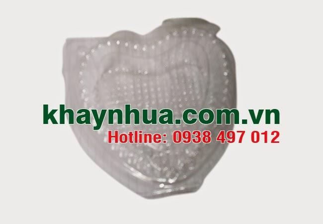 Hộp nhựa đưng bánh hình trái tim